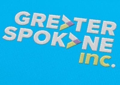 Greater Spokane Incorporated embroidered logo