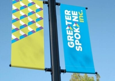 Greater Spokane Incorporated environmental pole banners
