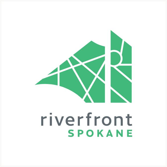 Riverfront Spokane green variation logo