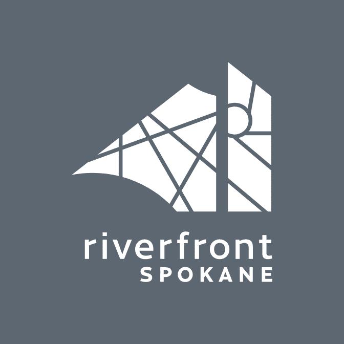 Riverfront Spokane reversed logo