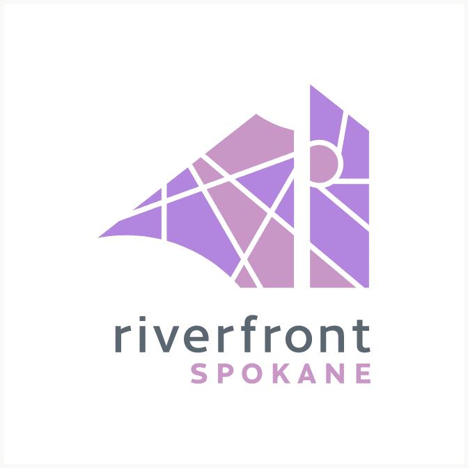 Riverfront Spokane purples variation logo