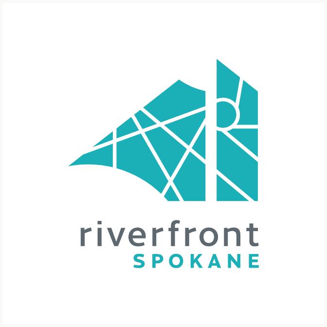 Riverfront Spokane blue variation logo