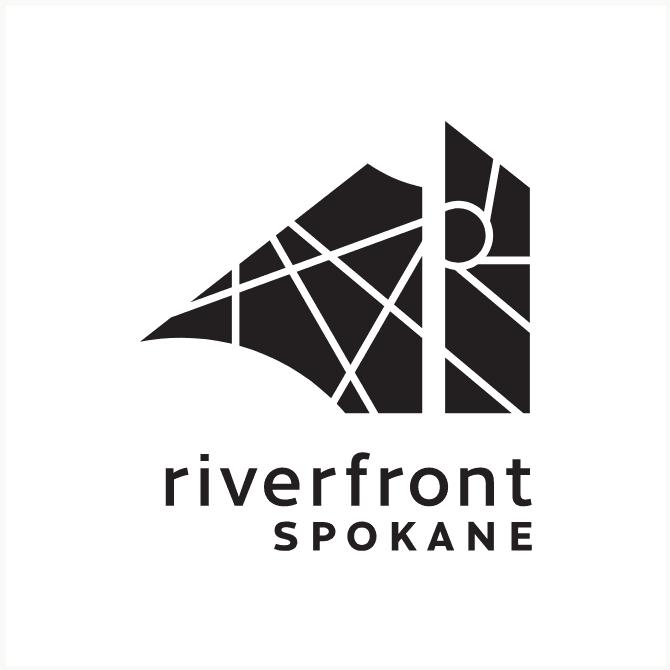 Riverfront Spokane one color black logo