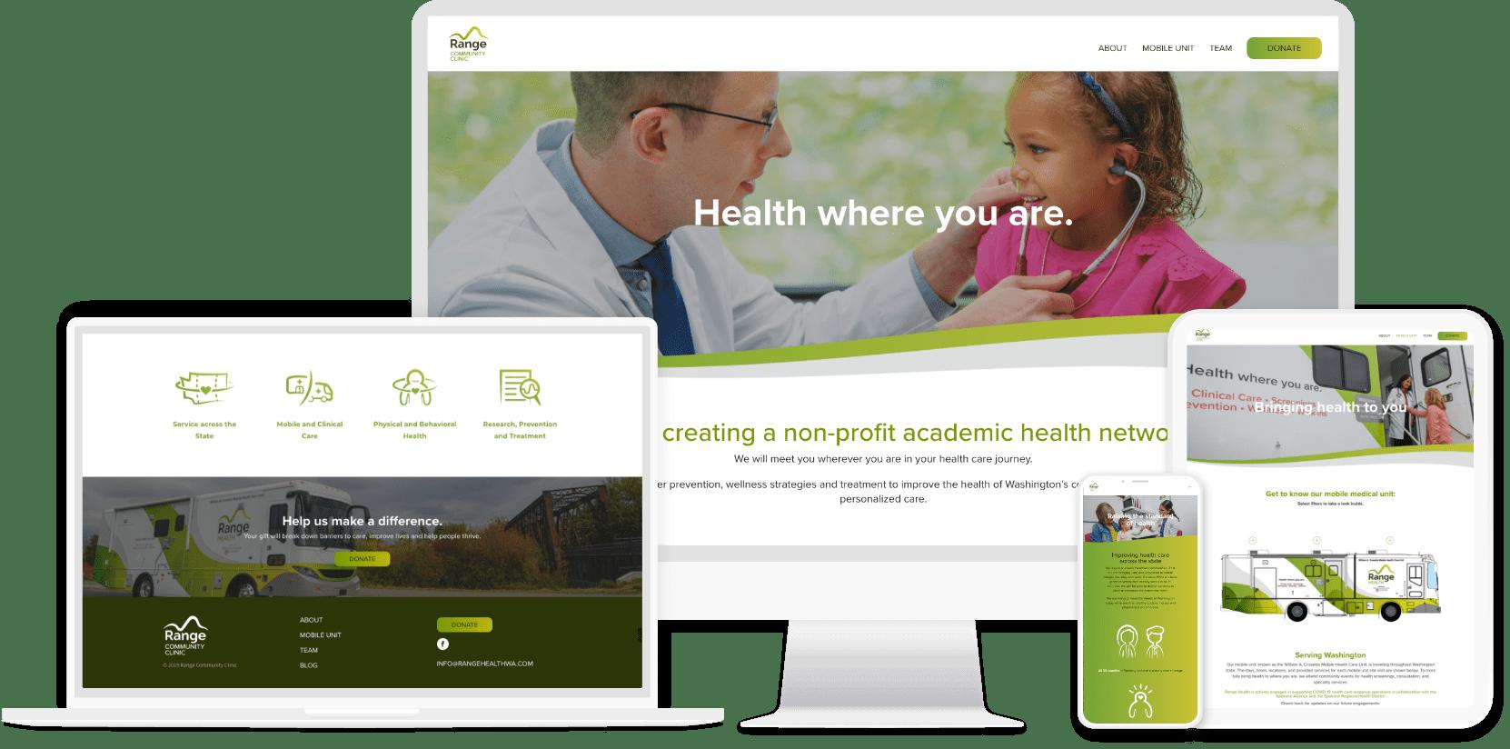 Range Community Clinic website design