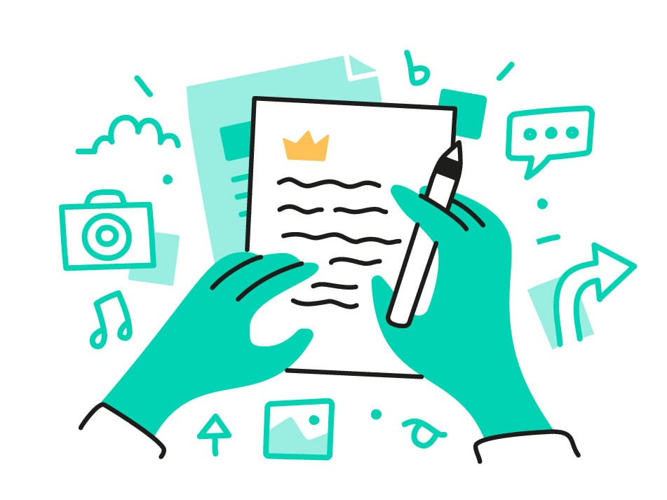 Writing for the brand you love illustration